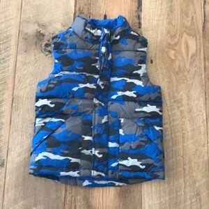 Gymboree S 5 6 Blue Camo Puffer Vest